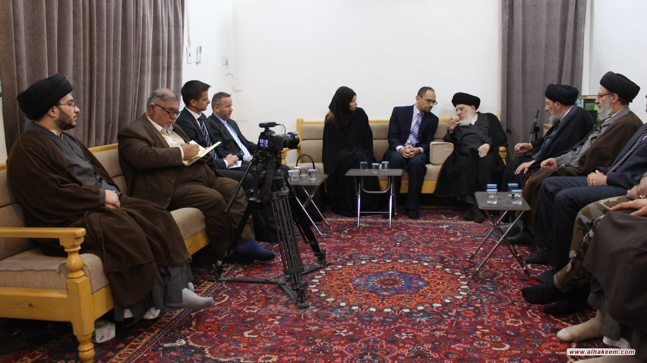 His Eminence the Grand Ayatollah al-Hakeem met with Ambassador of the Kingdom of Norway in Baghdad, and advised for greater communication between different cultures