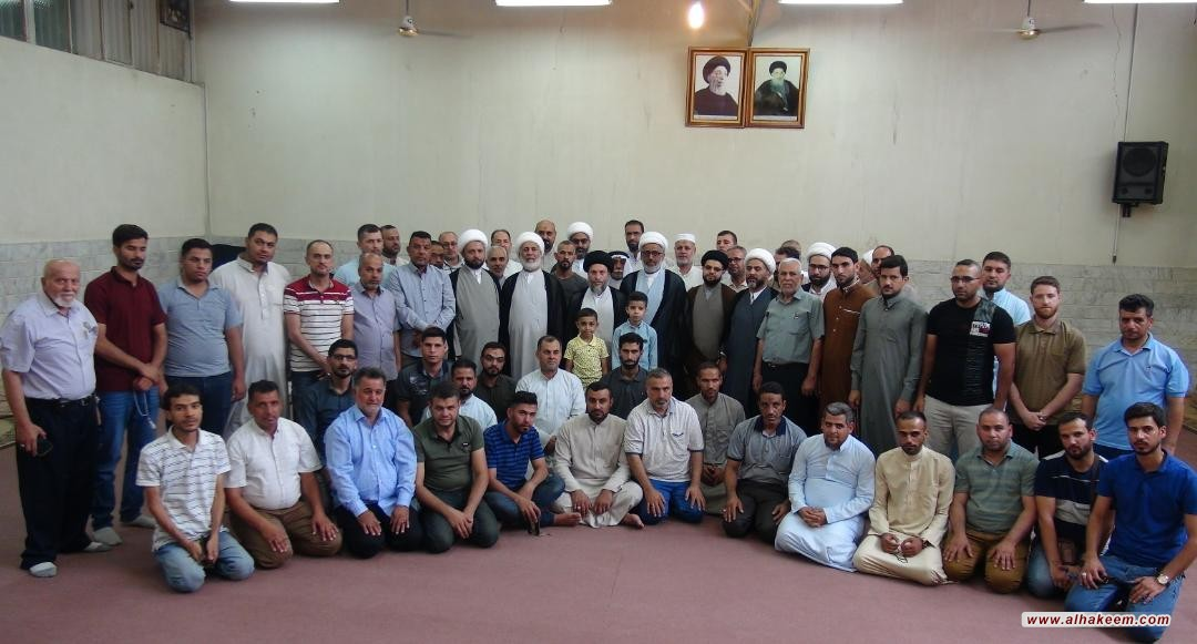 سماحة السيد رياض الحكيم يلتقي أساتذة وطلبة حوزة خاتم الأوصياء الدينية