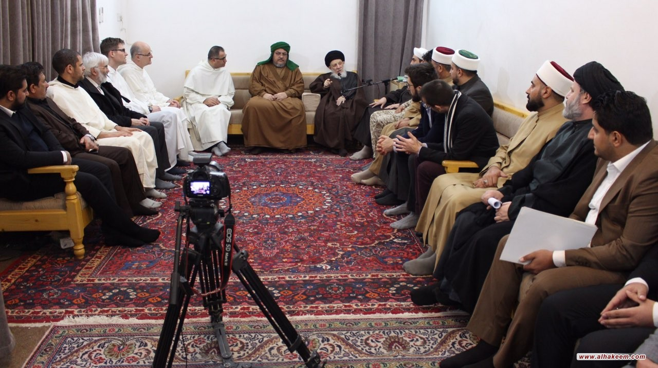 His Eminence the Grand Ayatollah al-Hakeem called the researchers in theology to think freely to reach the truth, to spread it, to hold on to it and to act according to it.