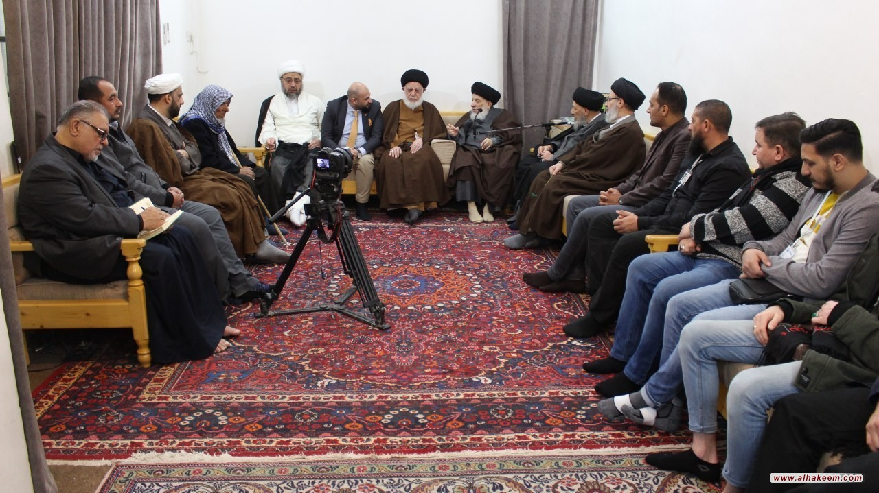 His Eminence Grand Ayatollah Sayyid al-Hakeem received a group of reverts from Europe, amongst whom was French youth who declared himself a Muslim