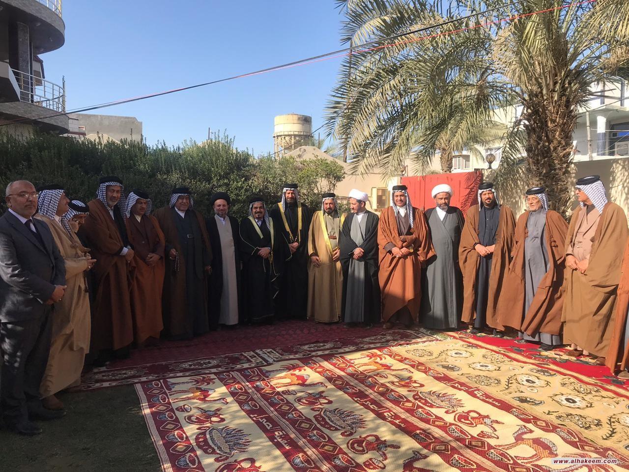 ممثل سماحة المرجع الديني الكبير السيد الحكيم (مدّ ظله)، يلتقي بوجهاء وشخصيات عشائر العابد في محافظة واسط