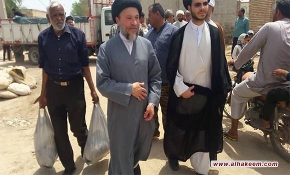 بازدید سید ریاض حکیم از مناطق سیل زده استان خوزستان