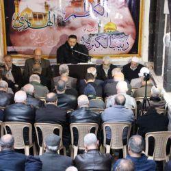 مكتب سماحة المرجع الديني الكبير السيد الحكيم(مدّ ظله) في حي الأمين بدمشق يقيم مجلس عزاء بذكرى شهادة الإمام علي الهادي (عليه السلام)