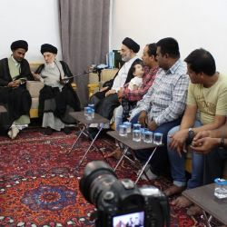Grand Ayatollah Sayyid Mohammed Saeed al-Hakeem Received a Group of Followers of the Ahlulbayt (Peace be upon them) from India and Advised Them to Guard Themselves with the Islamic Original Heritage and Faith.