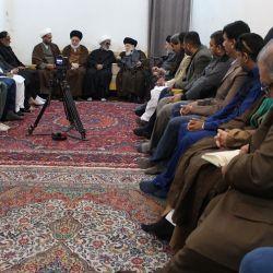 سماحة المرجع الديني الكبير السيد الحكيم (مد ظله ) يستقبل مجموعة من أساتذة جامعات باكستان، ويوصي بالمودة والتسامح والتعاون بعيدا عن المشاحنات والتشنجات