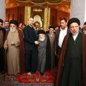 با حضور مرجع عالیقدر تشیع اقای حکیم (مد ظله)؛ مقام حضرت صاحب الامر والزمان (عج) در مسجد سهله در شهر کوفه افتتاح شد