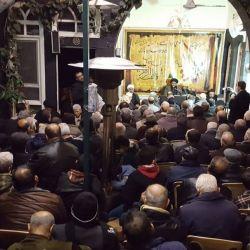 المؤمنون يحيون ذكرى شهادة الزهراء عليها السلام في مكتب سماحة المرجع الكبير السيد الحكيم (مدّ ظله) في حي الأمين بدمشق