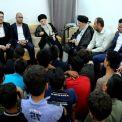 دیدار مرجع عالیقدر حاج سید محمدسعید حکیم (مدظله) با گروهی از فرزندان شهدای بسیج مردمی عراق