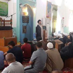 سخنرانی سید عزالدین حکیم در یکی از مساجد شهر العماره