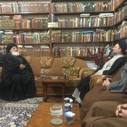 ممثل سماحة المرجع الديني الكبير السيد الحكيم (مدّ ظله)، يزور وكيل المرجعية في مدينة النعمانية