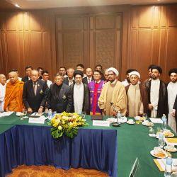 سماحة السيد رياض الحكيم والوفد المرافق له يشارك في ندوة حوار الأديان المنعقدة في العاصمة التايلندية بانكوك