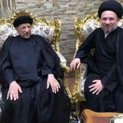 وفد مكتب المرجع الديني الكبير السيد الحكيم (مد ظله) يزور الخطيب الحسيني السيد جاسم الطويرجاوي بمقر اقامته في البصرة والاطمئنان على صحته