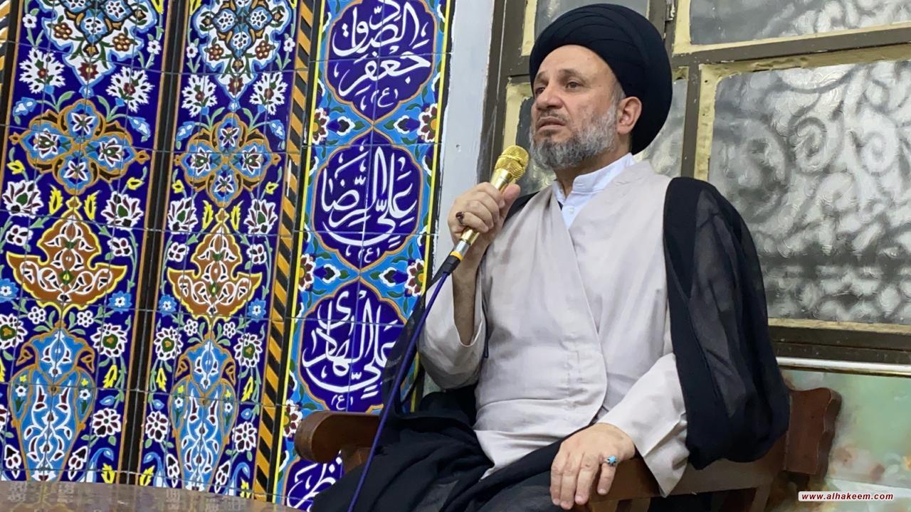 ممثل المرجع الكبير السيد الحكيم يزور حسينية الإمام الصادق (عليه السلام) في شارع فلسطين حي المستنصرية في العاصمة بغداد